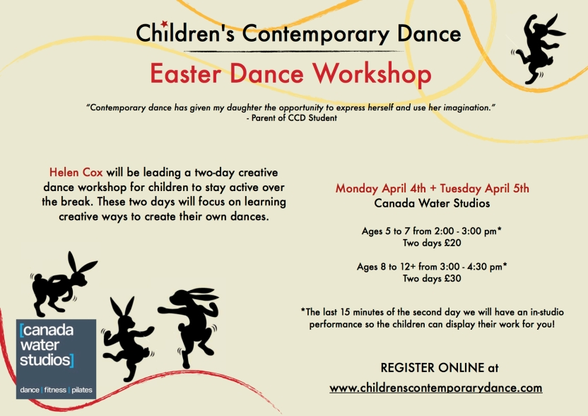 CCD Easter Choreography Workshop